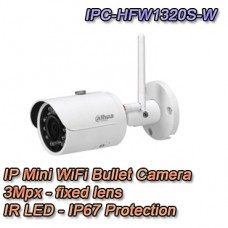 TELECAMERA WIRELESS BULLET IP 3MPX 2.8MM - DAHUA - IPC-HFW1320S-W